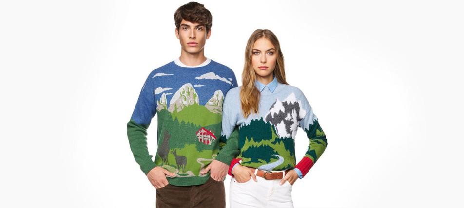 Dečko i devojka u benetton džemperima