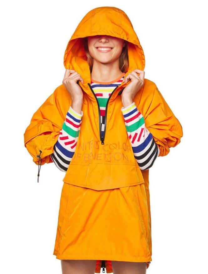 Benetton narandžasta jakna za kišu