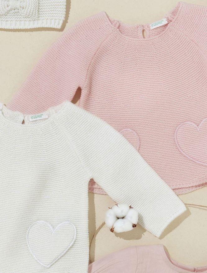 Benetton roze i bela bebi odeća