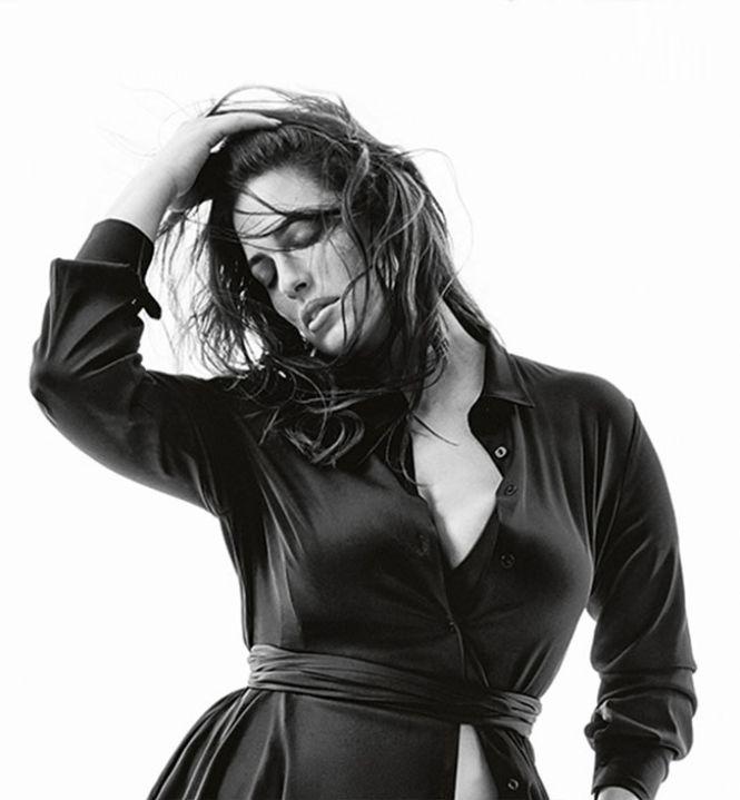 Marina Rinaldi crna haljina sa pojasem
