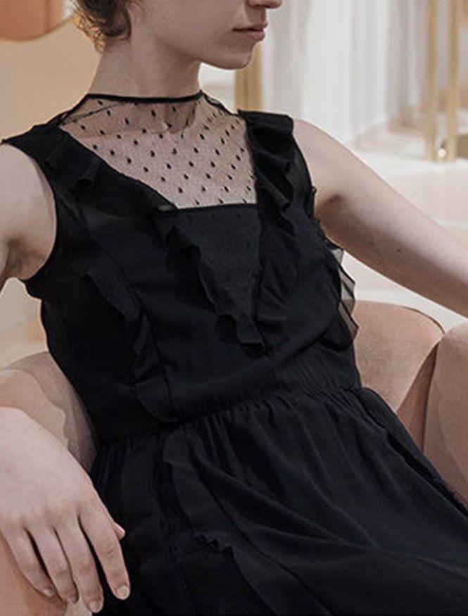 RED Valentino crna haljina