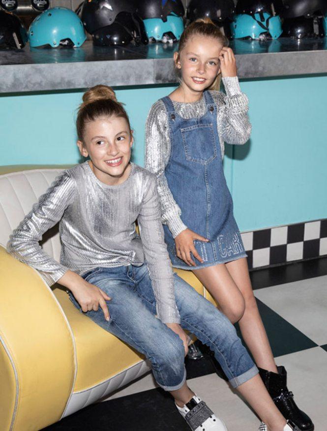 Sisley kolekcija za devojčice sa srebrnim detaljima
