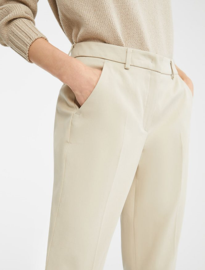 Weekend Max Mara bež poslovne pantalone