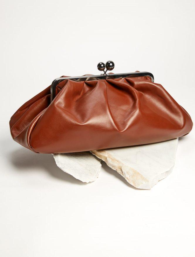Weekend Max Mara braon kožna torba
